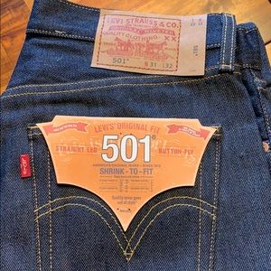 Levi's 501 shrink to fit 31*32 brand new